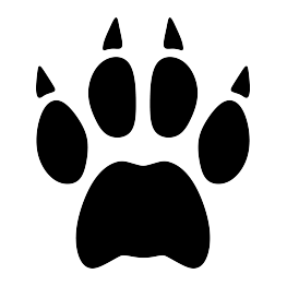 svg library download Cat silhouettes paw print. Bobcat clipart