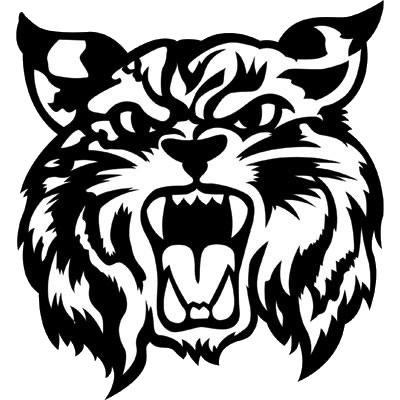 graphic royalty free library Bobcat clipart artwork. Bobcats drawing at getdrawings