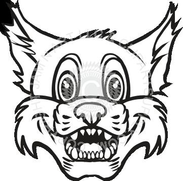 vector royalty free Clip art panda free. Bobcat clipart artwork