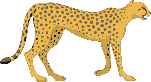 graphic transparent library Free Cheetah Clipart