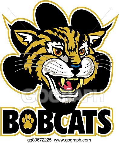 transparent stock Vector bobcats eps gg. Bobcat clipart clip art
