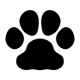 svg transparent Vector bulldog paw print. Silhouettes silhouette