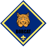 svg royalty free Bobcat clipart cub scout. Packs neuse basin district