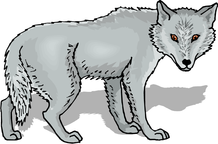 graphic black and white Free Wolf Clipart