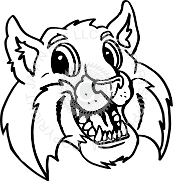 picture freeuse stock Bobcat head smiling