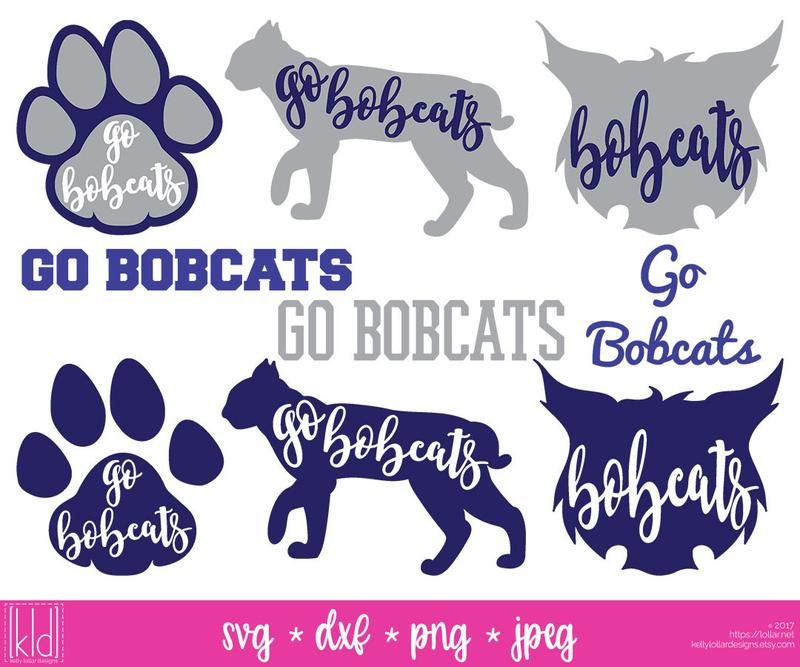 png royalty free download Bobcat clipart svg. Pin on sports cut