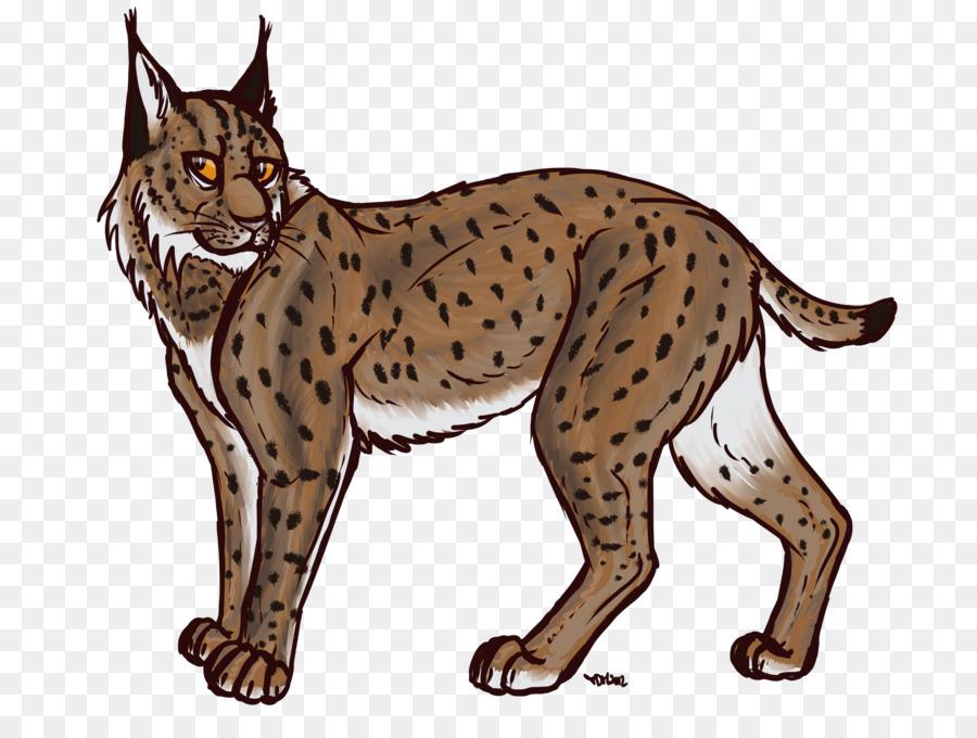 clip art royalty free download Bobcat clipart transparent. Eurasian lynx canada drawing