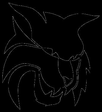 vector transparent library Wildcat Mascot Clipart