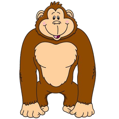 png Gorilla clipart realistic cartoon.  collection of transparent
