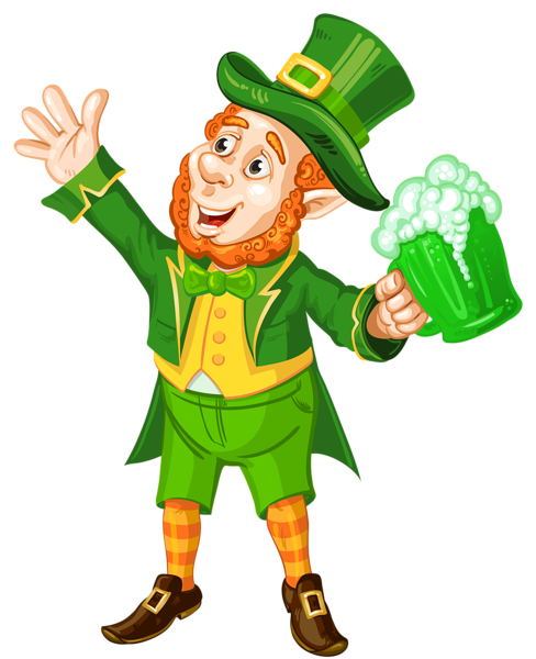 graphic free library St patrick day with. Body clipart leprechaun.