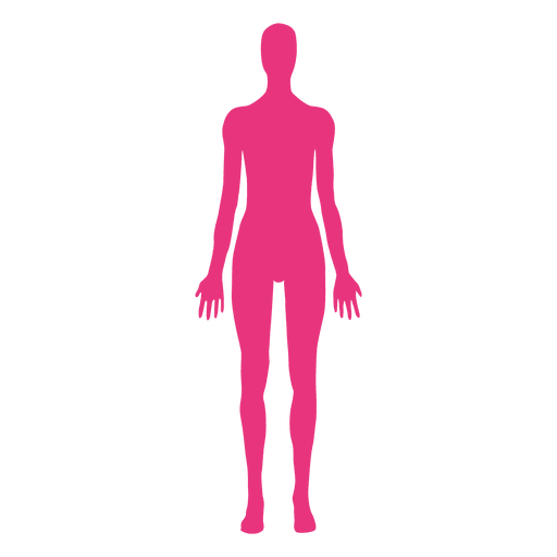 clipart black and white library Female body medical pose