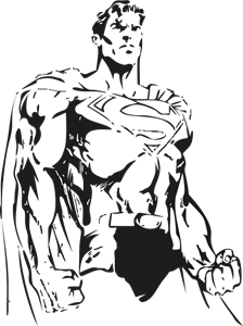graphic freeuse download Drawing superman sketch. Logo vector eps free