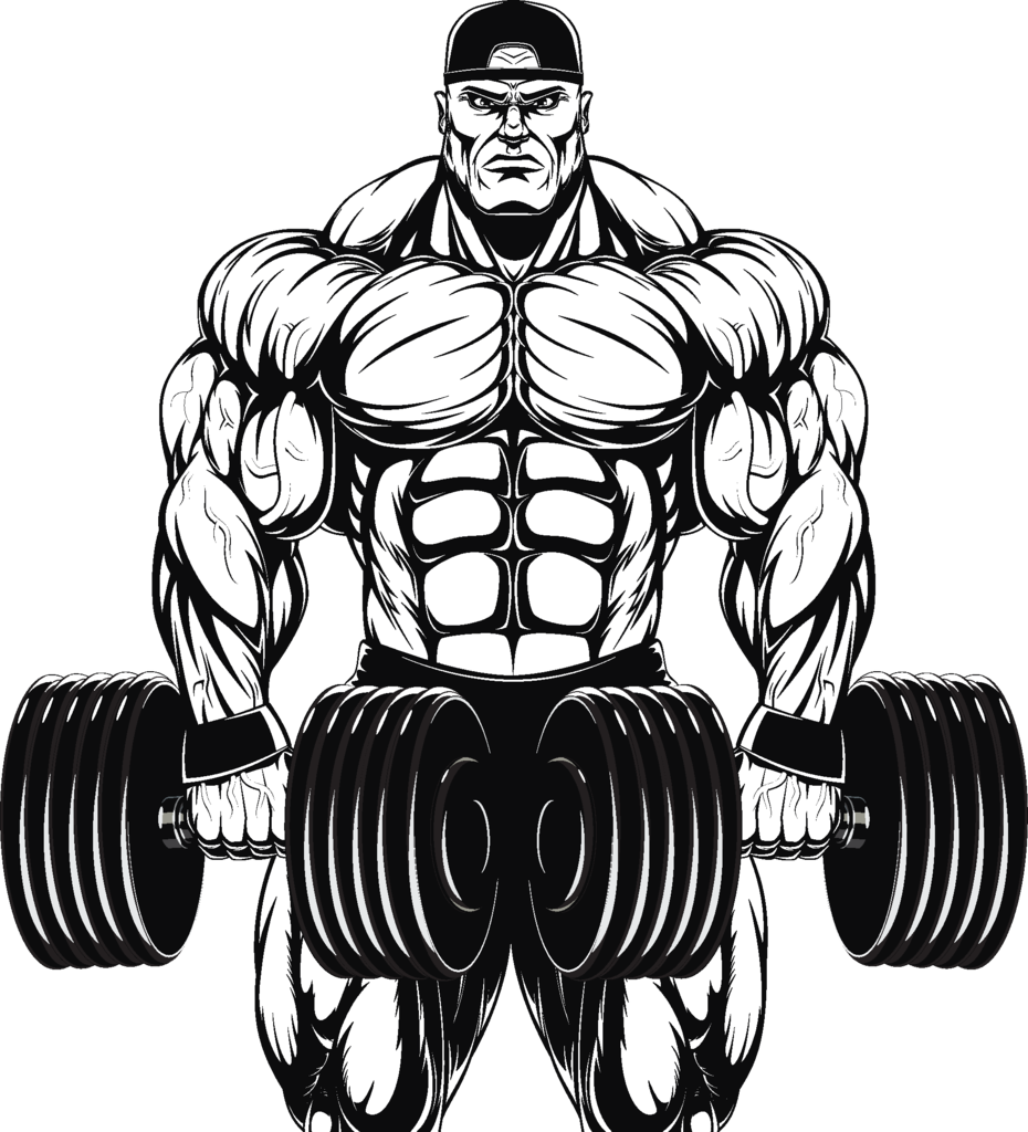 picture download drawing muscle body builder #95234133