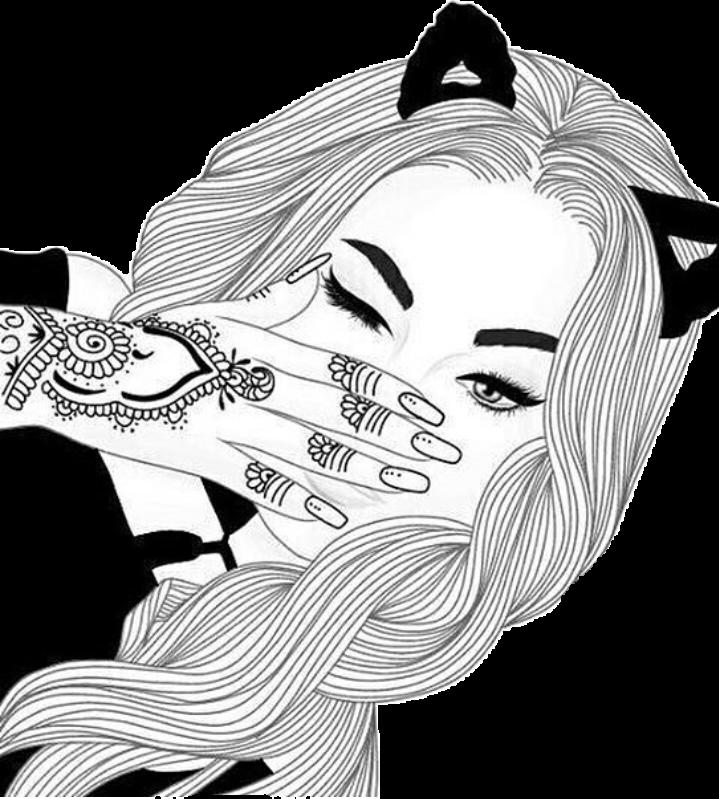 banner royalty free tumblr girl drawing popular