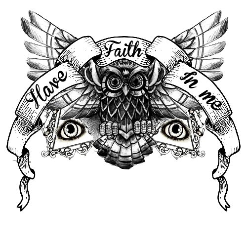 image transparent stock Drawing owls tattoo. Have faith in me