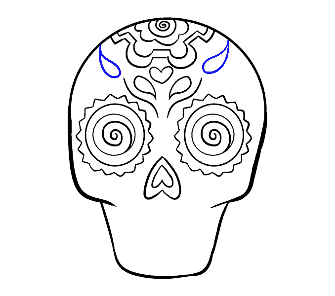 jpg free library Sugar Skull Drawing Easy at GetDrawings