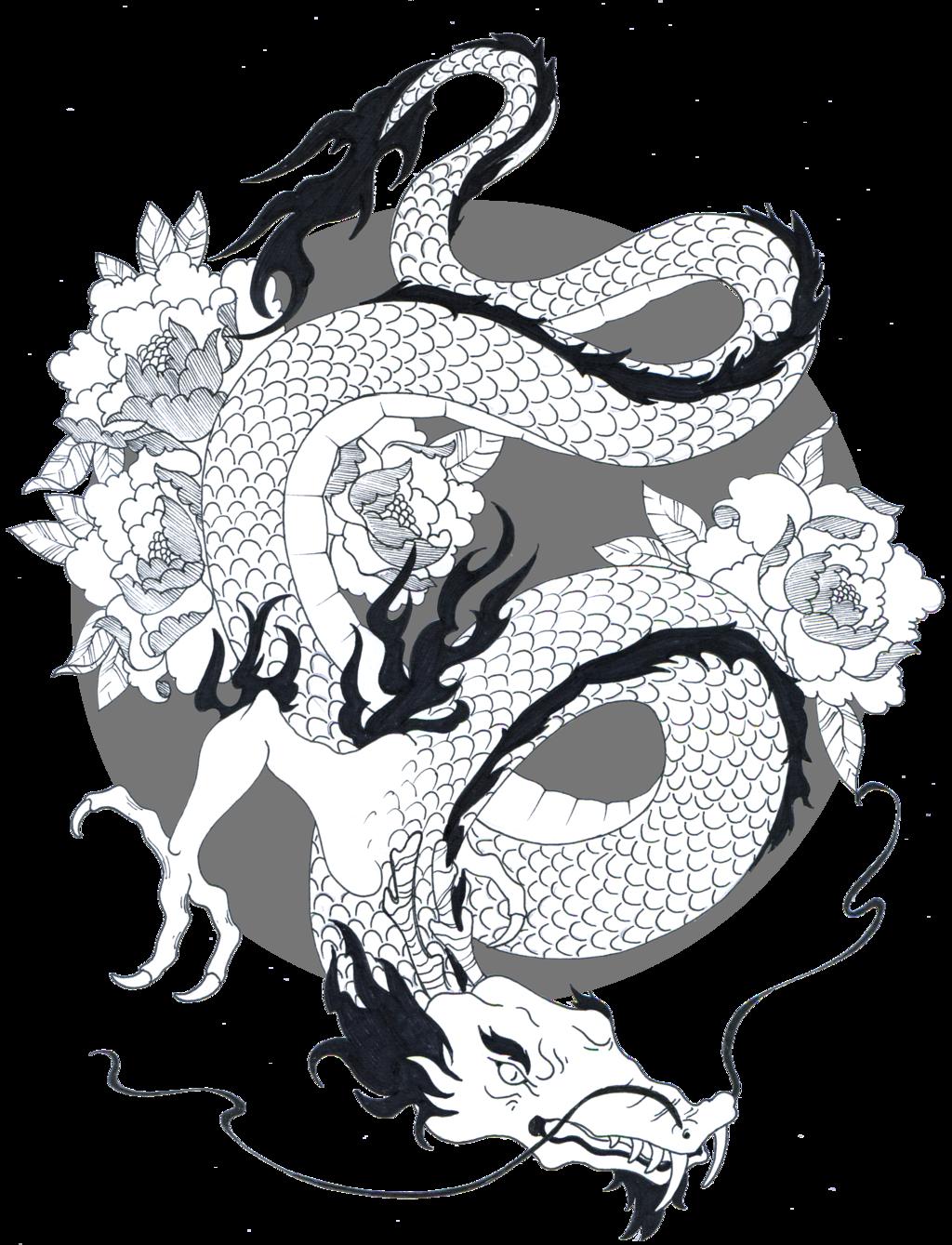 image royalty free library Japanese Dragon Drawings