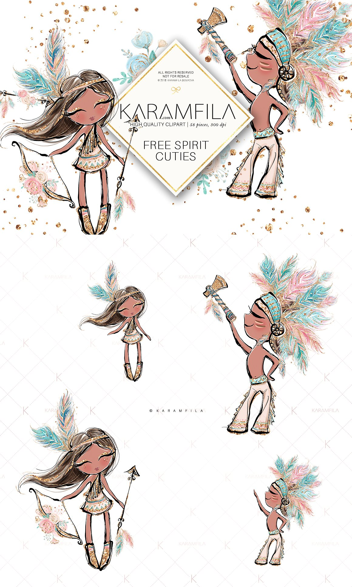 clip library library Boho clipart boho girl. Transparent free for .