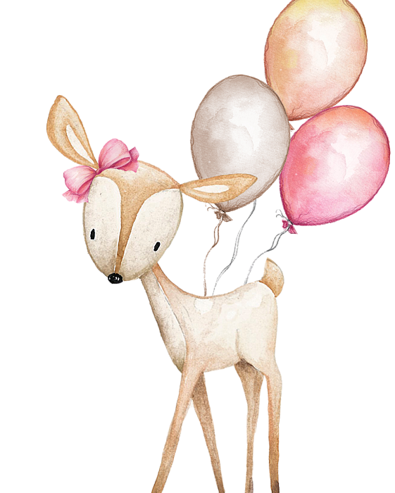svg transparent download Boho clipart deer. With balloons beach towel.