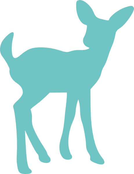 vector free library Baby silhouette clip art. Boho clipart deer.