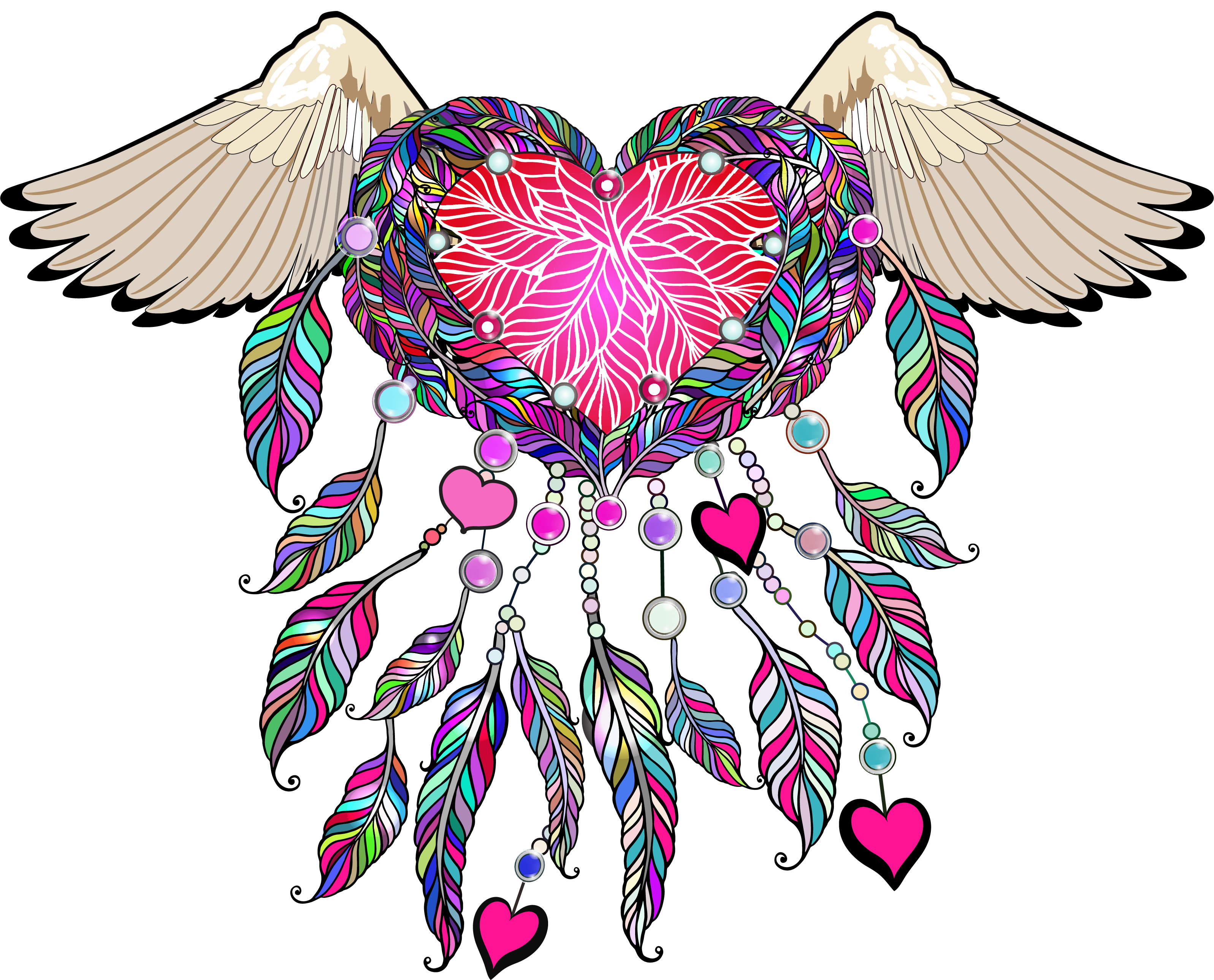 vector free Boho clipart valentine. Transfers sew down south