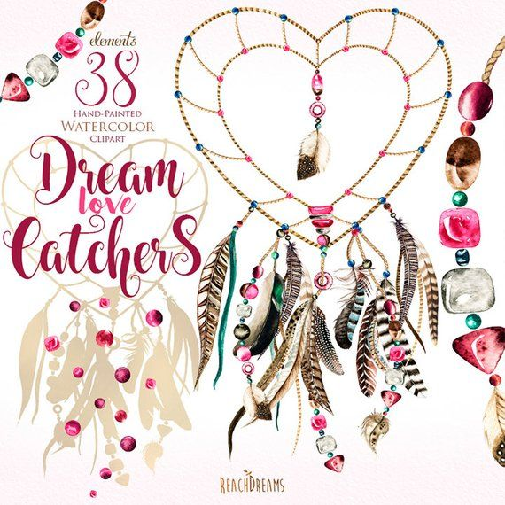 image free library Watercolor dreamcatchers heart s. Boho clipart valentine