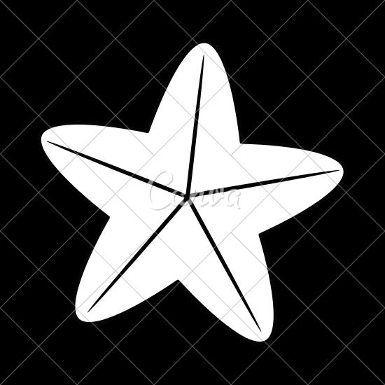 clip art freeuse library Sea Star Drawing at GetDrawings