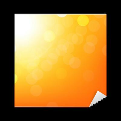 banner transparent download Orange Background With Bokeh Sticker