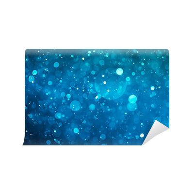 image black and white stock blue shiny bokeh background Wall Mural