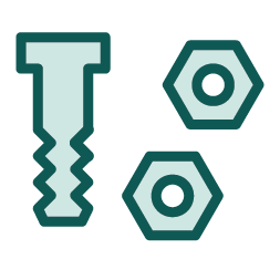 image royalty free Bolt clip fastener. Clipart cute borders vectors