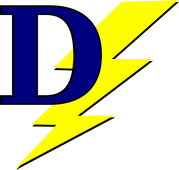 svg free Lightning with d art. Bolt clip pin
