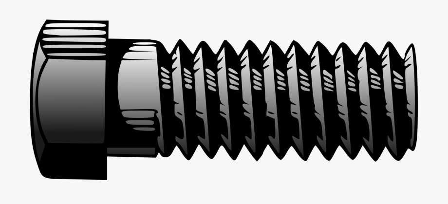 clip art library library Bolt clipart. Nut screw thread drawing.