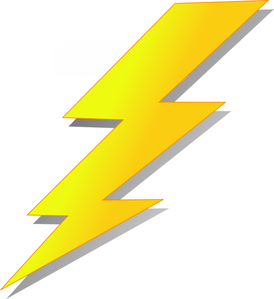 transparent library Lightning strike cartoon clip. Bolt clipart cool lighting.