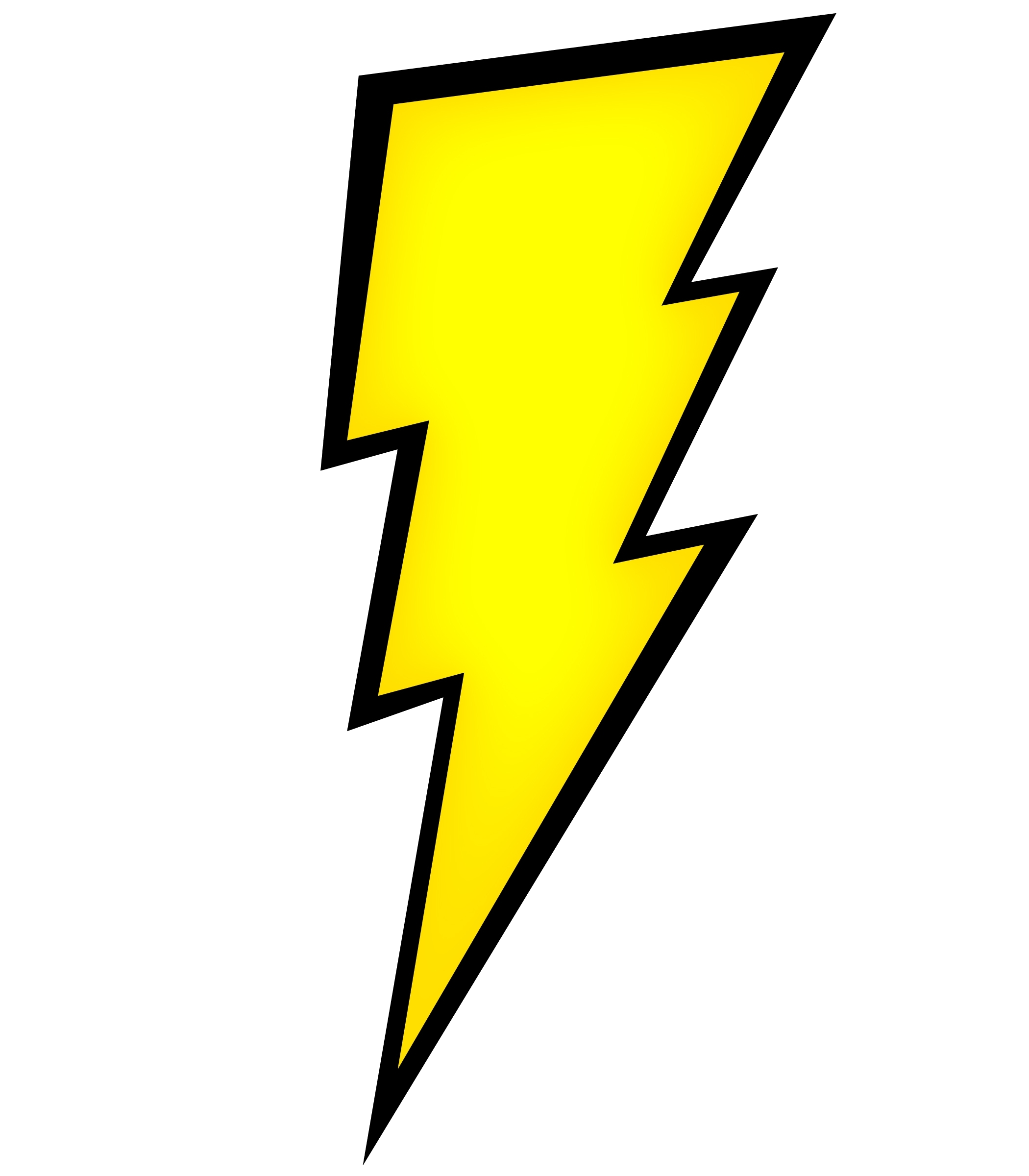 picture black and white stock Bolt clipart electric sign. Lightening electrical power symbol.