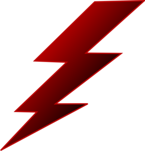 picture library Electrical red lightning pencil. Bolt clipart electric sign.