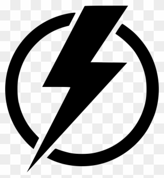 svg freeuse Bolt clipart electric sign. Free png electricity clip.