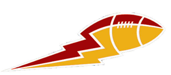 png black and white library Bolt clipart gold. Dark red and football