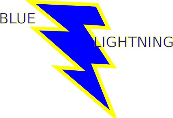 picture download Blue and lightning clip. Bolt clipart gold