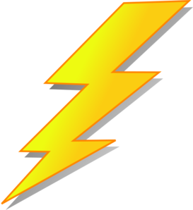 jpg freeuse library Bolt clipart lightning rod. Yellow clip art at