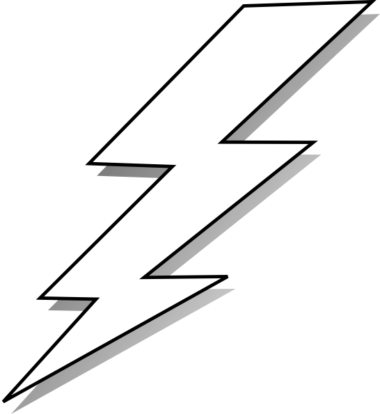freeuse stock Bolts drawing flash. Comic lightening black and