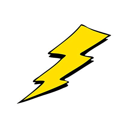black and white library Amazon com yellow lightning. Bolt clipart pop art.