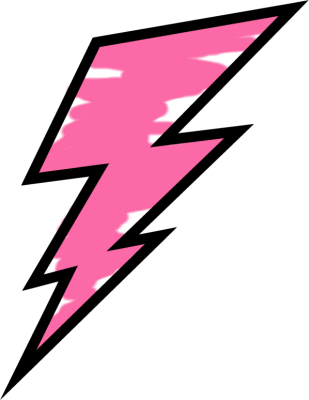 picture freeuse Pink painted lightning weather. Bolt clipart pop art