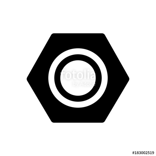 black and white stock Icon stock image and. Bolt vector nut