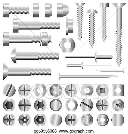 jpg transparent Bolt vector rivet. Art nuts and bolts