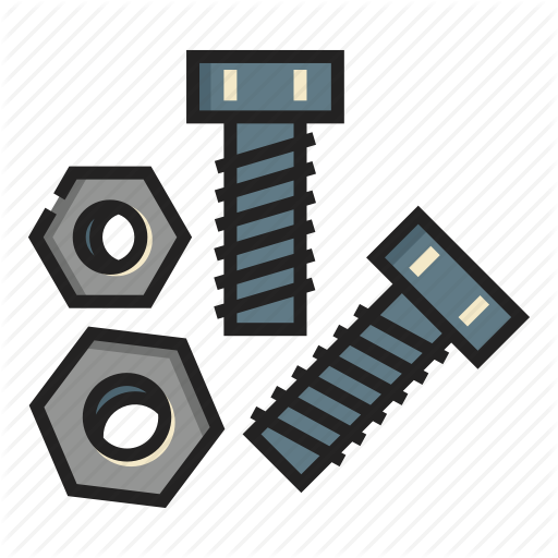 picture black and white download Construction tool line color. Bolt vector rivet