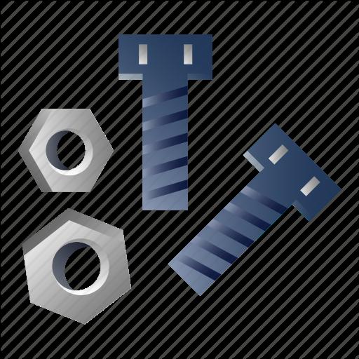jpg free library Bolt vector rivet. Construction tool gradient foreman