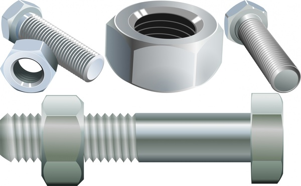 clipart free Bolt vector steel. Screw and nut free