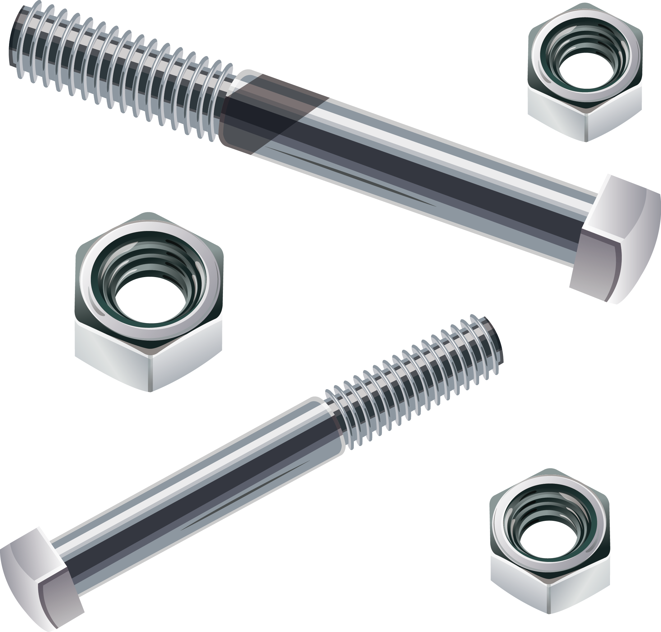 vector transparent download Bolt vector steel. Screw nut stainless fastener