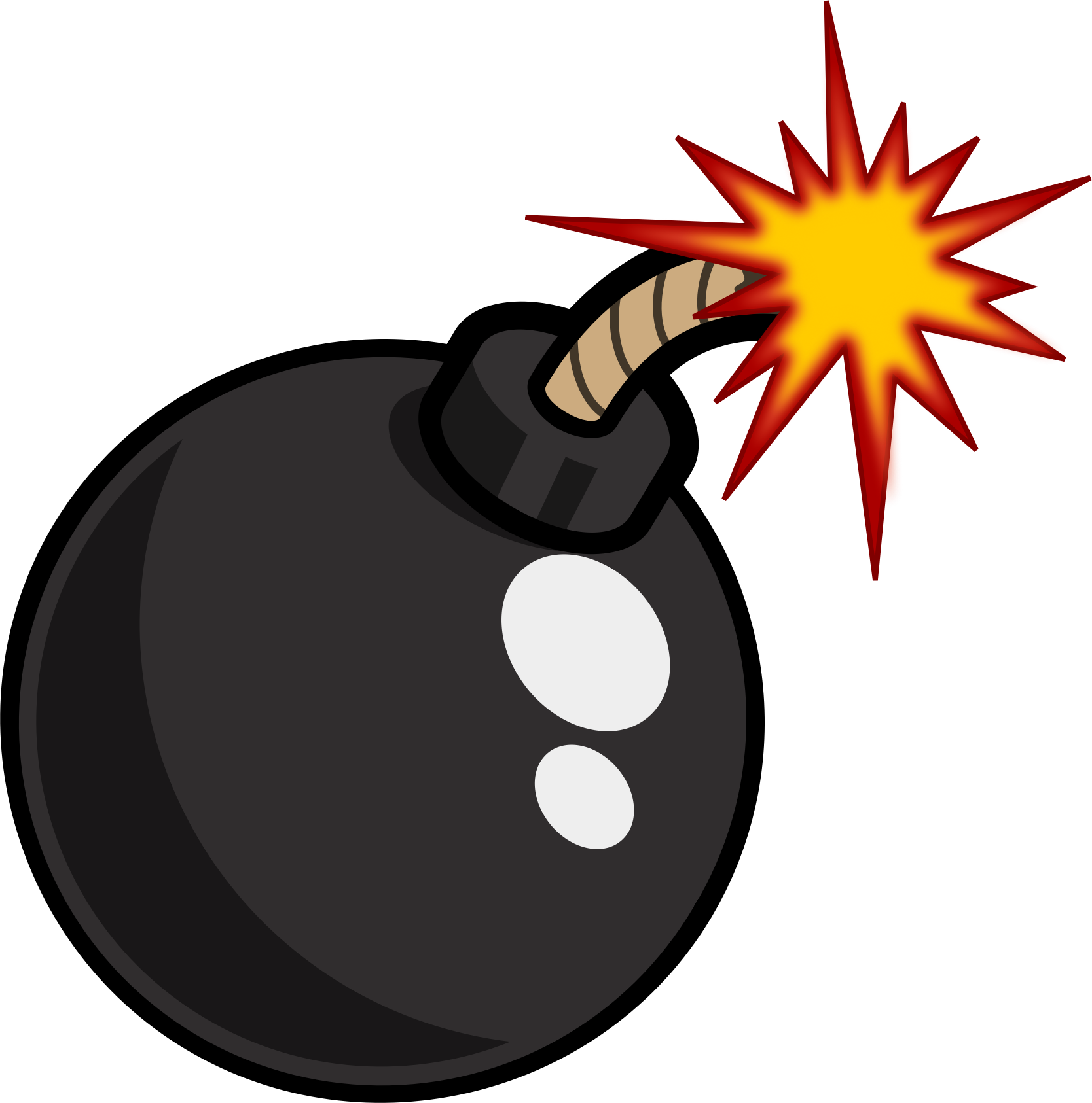graphic freeuse Black cartoon big image. Bomb clipart