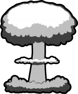 svg stock Nuclear black and white. Bomb clipart atomic bomb